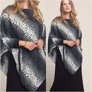Luxurious Soft Faux Fur Sweater Poncho OS